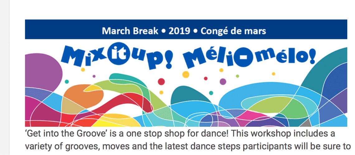 March break dance workshops with Luv2Groove™